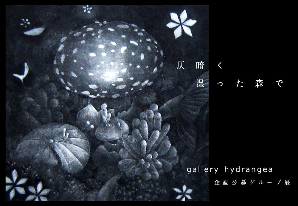 gallery hydrangea企画公募グループ展『 仄暗く湿った森で 』の画像1
